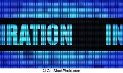 Inspiration Front Text Scrolling LED Wall Pannel Display Sign Board