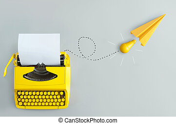 inspiration, nouveau, machine écrire