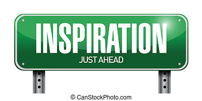 inspiration road sign illustration