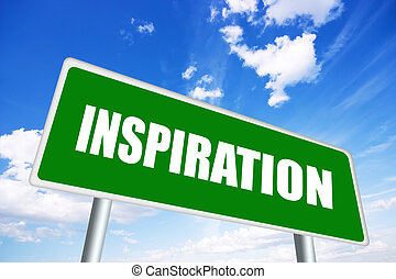 Inspiration sign - Inspiration illustrated sign