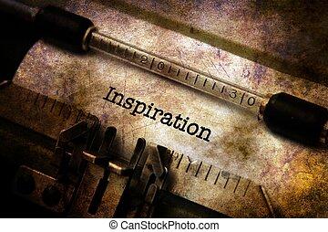inspiration, text, på, årgång, skrivmaskin