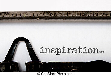 Inspiration - The word inspiration written on a vintage ...