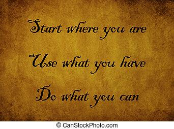 inspiration, und, motivieren, notieren, von, arthur, ashe