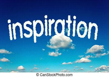 inspiration, wolkenhimmel
