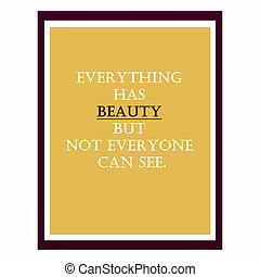 Inspirational and motivational quote. Effects poster, frame, col