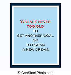 Inspirational and motivational quote. Effects poster, frame,...