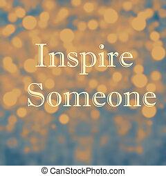 inspirational, citaten, het motiveren, bokeh, licht, abstrac...