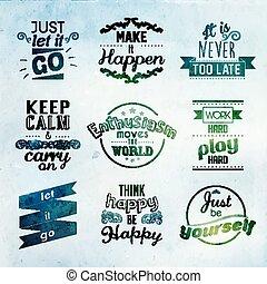 inspirational, e, encorajando, citação