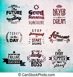 inspirational, en, aanmoedigen, noteren