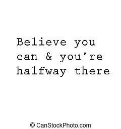 inspirational, en, motivational, quote., effecte, poster, frame, col