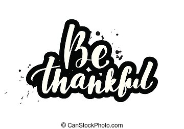brush lettering be thankful