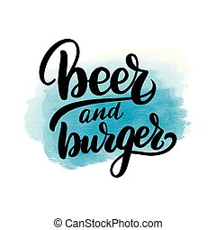 lettering beer and burger