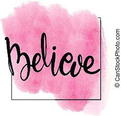 brush lettering believe