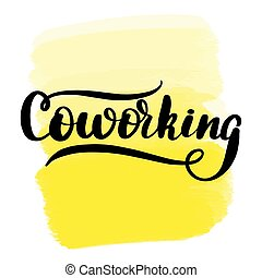 brush lettering coworking