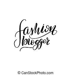 lettering fashion blogger