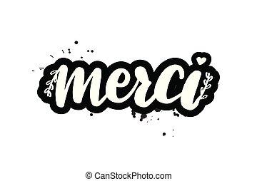 brush lettering merci