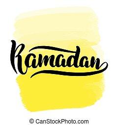 brush lettering ramadan