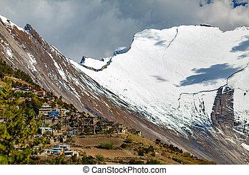Inspirational Landscape Himalaya Mountains in Nepal -...
