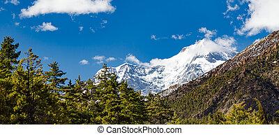 inspirational, landskap, himalaya, mountains, in, nepal