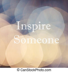 inspirational, li, bokeh, citaten, het motiveren, mooi, op, ...