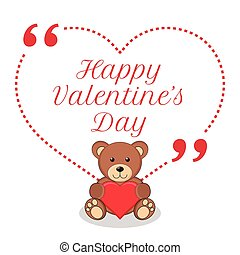 Inspirational love wish. Happy Valentine's Day.
