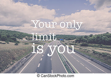 Inspirational motivation quote endless road