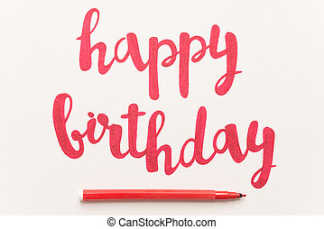 Inspirational quote 'Happy birthday' for greeting cards and...