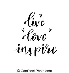 Inspirational quote 'live laugh love'