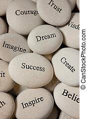 inspirational, steine