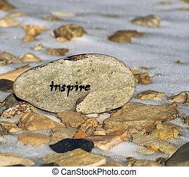 Inspirational stone concept.