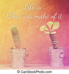Inspirational Typographic Quote - Life is what you make of...