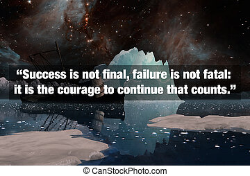 Inspirational Typographic Quote - Success is not final, ...