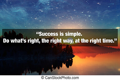Inspirational Typographic Quote. Success is simple. Do what'...
