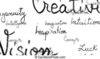 inspirationnel, boucle, seamless, -, mots