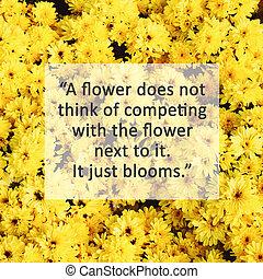 inspirationnel, filtre, retro fleurit, fleur, jaune, ...