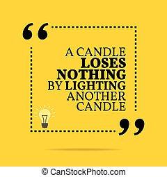 inspirationnel, motivation, quote., perd, éclairage, autre, ...