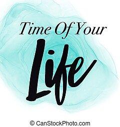 inspirationnel, temps, -, vie, ton, résumé, citation, fond
