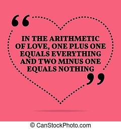 inspirationnel, tout, amour, nothing., égale, quote., amour...