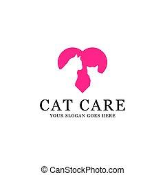 inspirations, домашнее животное, прекрасный, кот, логотип, brands, животное, забота, центр, lovers, ваш, забота