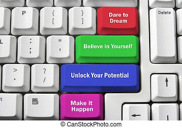 inspirations, ordenador teclado