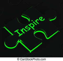 Inspire Puzzle Shows Motivation And Inspiration - Inspire...