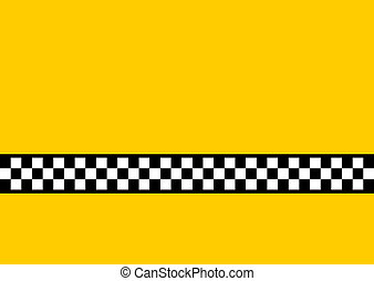 Inspired by the famous New York Yellow Cabs, with plenty of copy space.