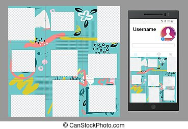 Inspired by vector social media puzzle template design