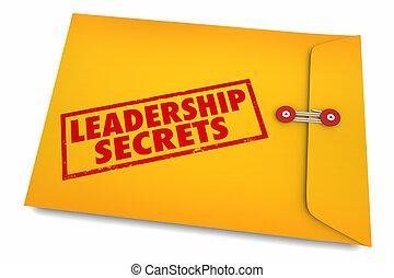 inspireren, geheimen, motiveren, enveloppe, illustratie, bewindvoering, 3d