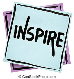 inspireren, raad, -, aantekening, herinnering, of