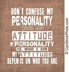 inspirerend, are., noteren, verwarren, motivatie, depends, vector, tekst, niet, u, persoonlijkheid, mijn, houding