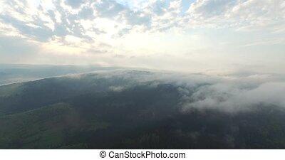 inspirerend, beauty, van, nature., bergen, en, hemel, in, luchtmening