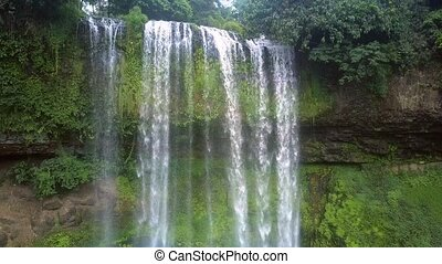 inspiring picture water falls abruptly from top - inspiring...