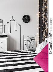 Inspiring wall in bedroom