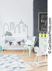 Inspiring wall sticker adding style to a newborn's room